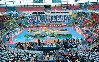 Presentación de Nucifora y Copes en los XXIII Juegos Sudamericanos Escolares