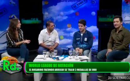 Facundo Arregui en Rosario Deportes